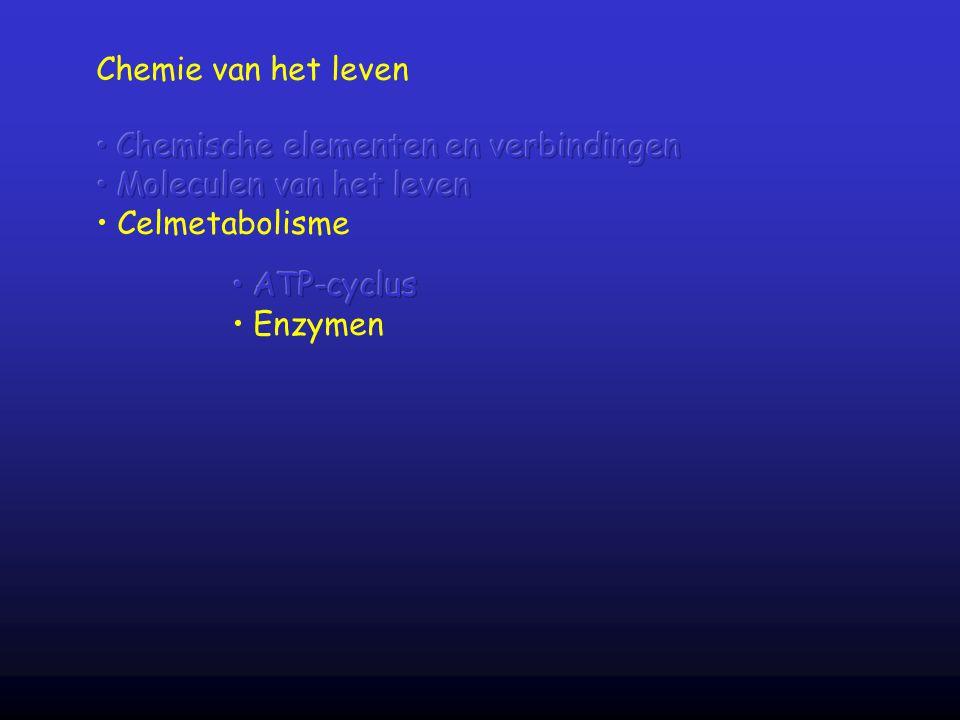 Chemie van het leven Chemische elementen en verbindingen. Moleculen van het leven. Celmetabolisme.