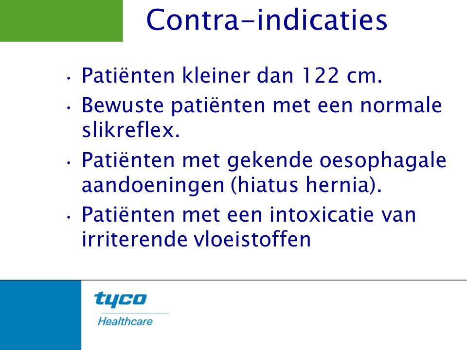 Contra-indicaties Patiënten kleiner dan 122 cm.