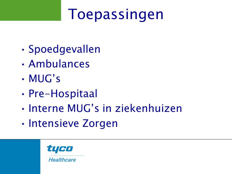 Toepassingen Spoedgevallen Ambulances MUG's Pre-Hospitaal