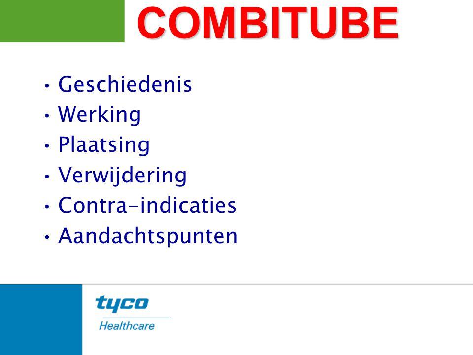 COMBITUBE Geschiedenis Werking Plaatsing Verwijdering