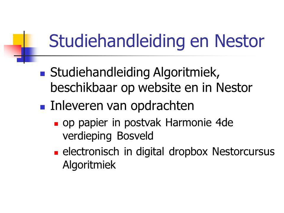 Studiehandleiding en Nestor