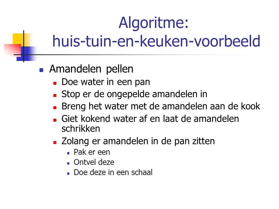 Algoritme: huis-tuin-en-keuken-voorbeeld
