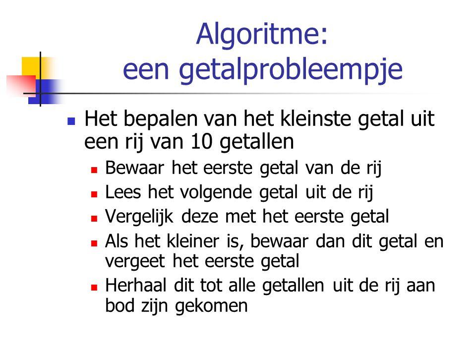 Algoritme: een getalprobleempje