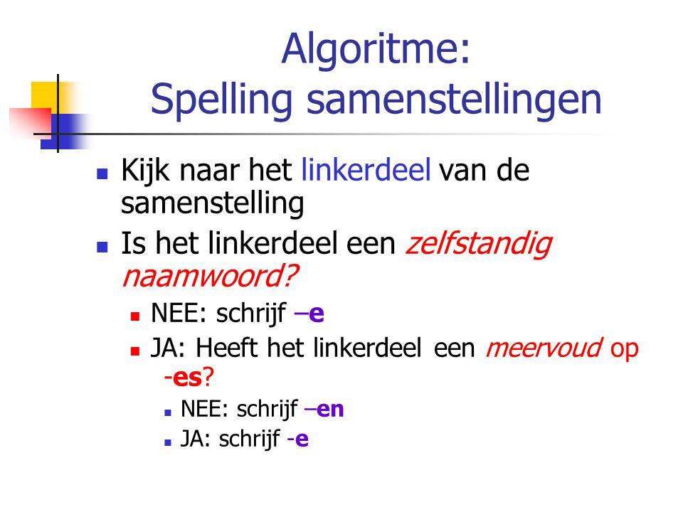 Algoritme: Spelling samenstellingen