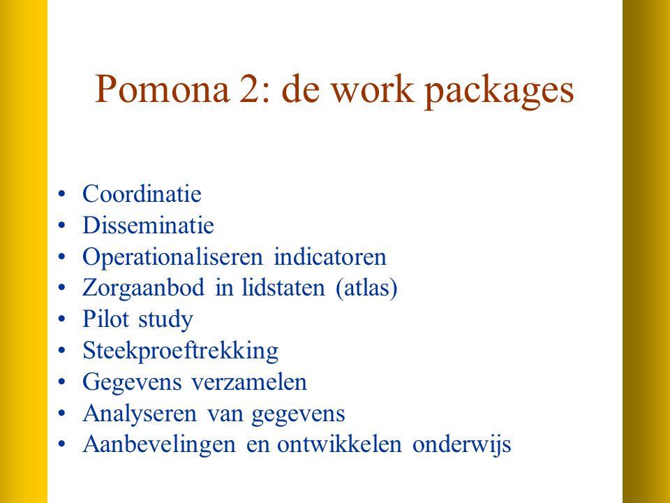 Pomona 2: de work packages