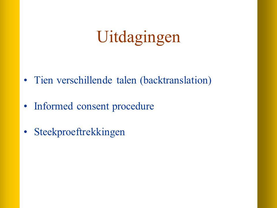 Uitdagingen Tien verschillende talen (backtranslation)