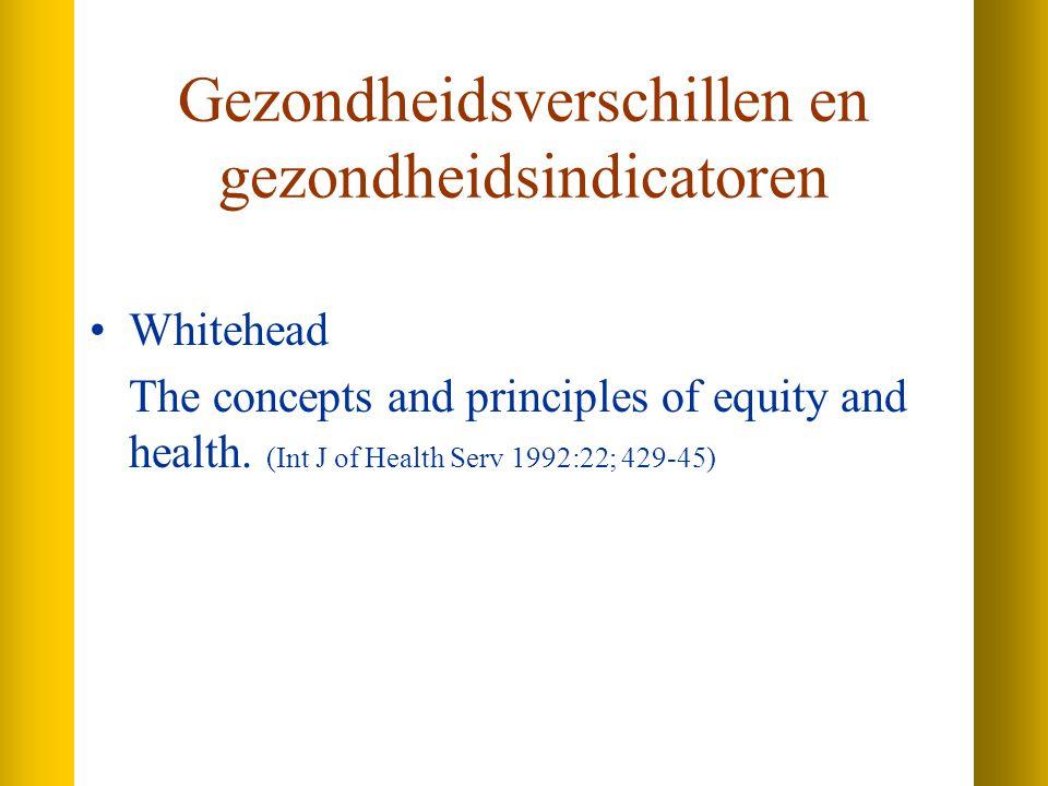 Gezondheidsverschillen en gezondheidsindicatoren