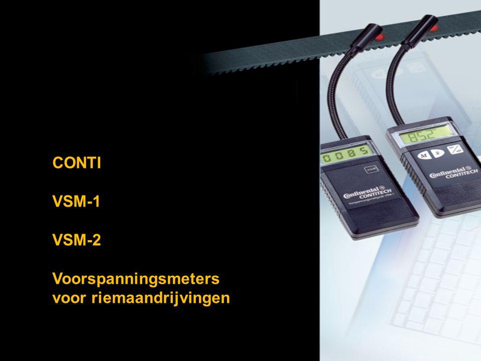 CONTI VSM-1 VSM-2 Voorspanningsmeters voor riemaandrijvingen