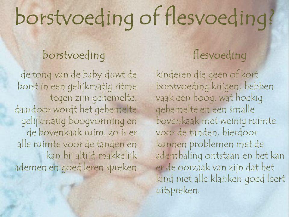 borstvoeding of flesvoeding