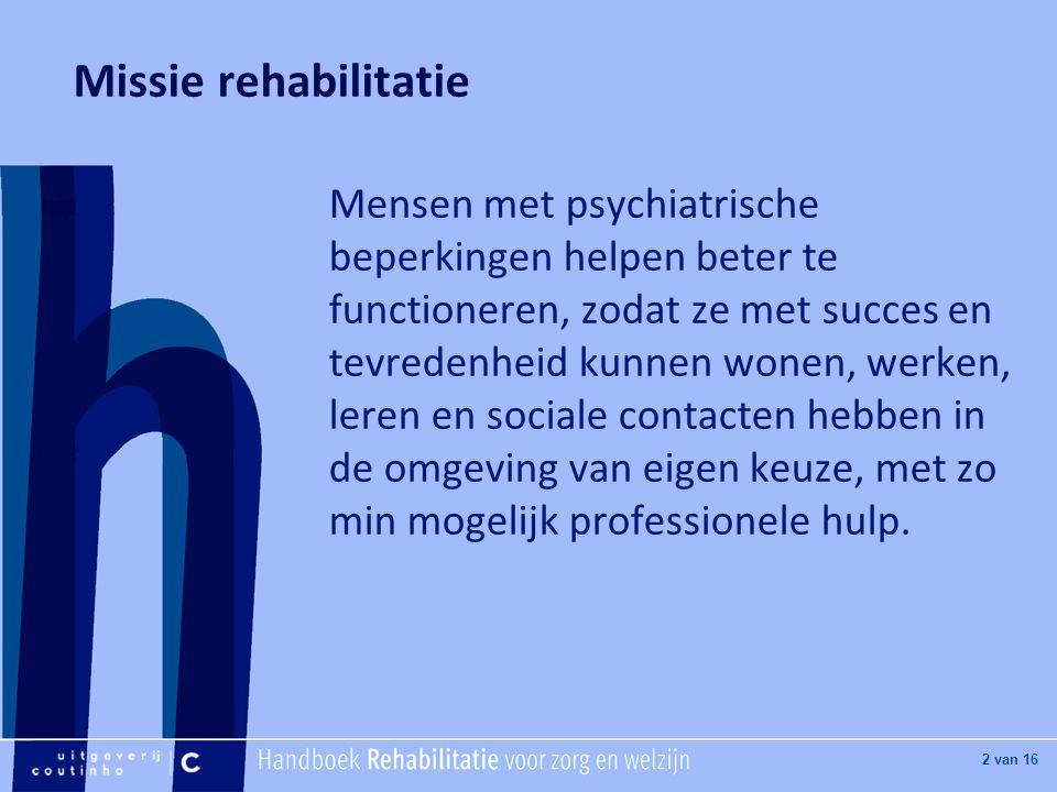 Missie rehabilitatie