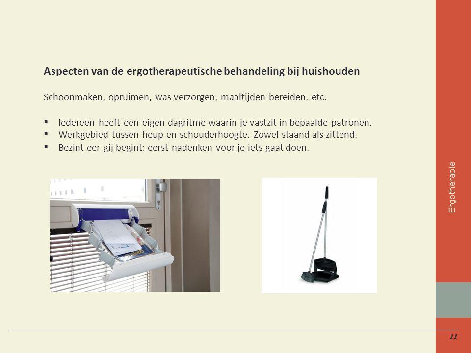 Aspecten van de ergotherapeutische behandeling bij huishouden