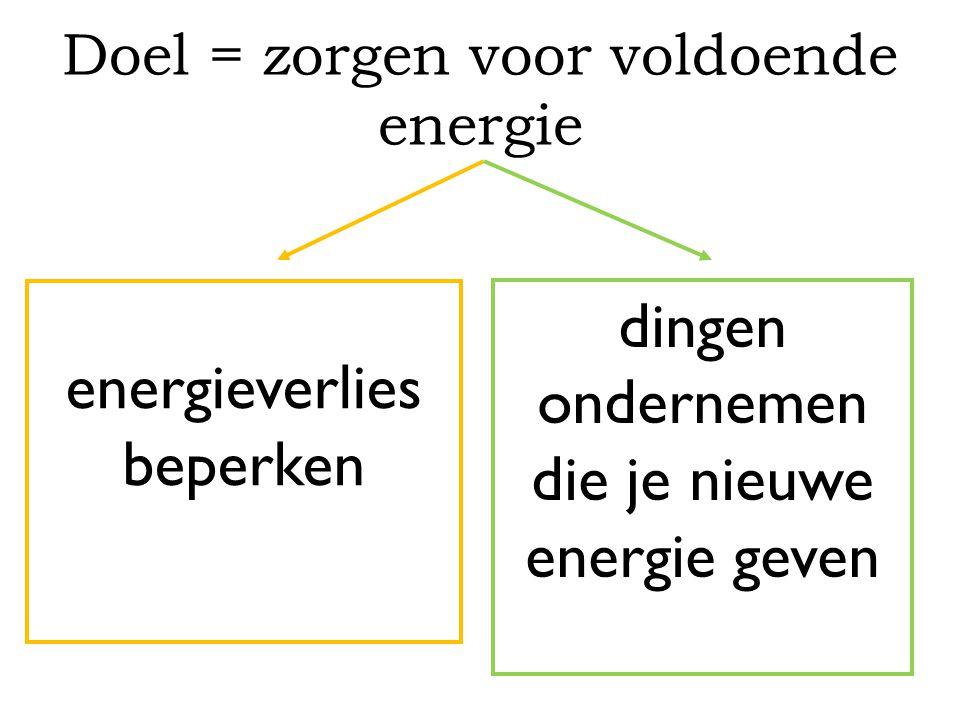 energieverlies beperken dingen ondernemen die je nieuwe energie geven