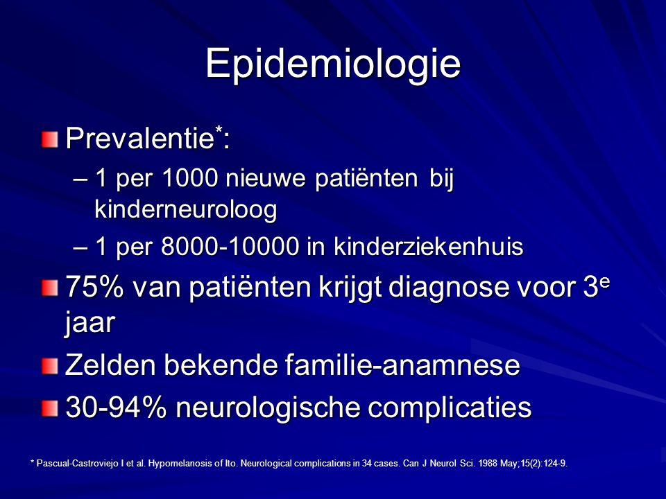 Epidemiologie Prevalentie*: