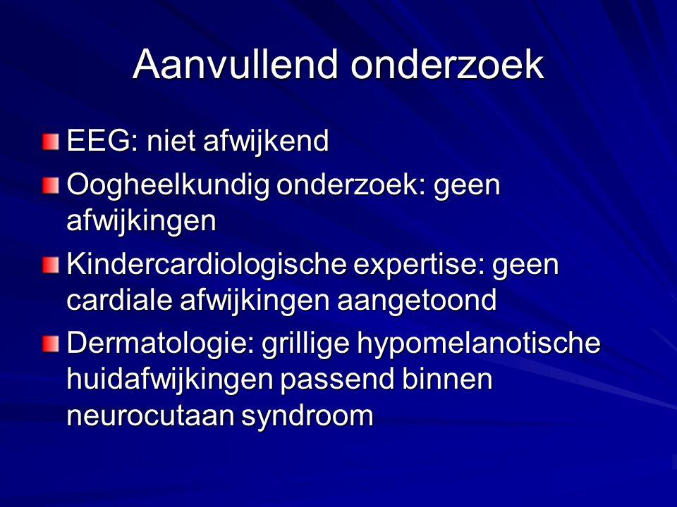 Aanvullend onderzoek EEG: niet afwijkend