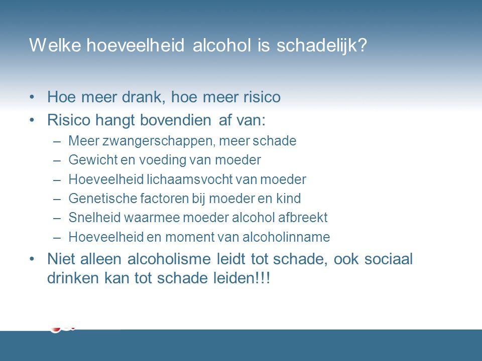 Welke hoeveelheid alcohol is schadelijk