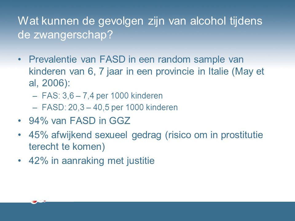 Wat kunnen de gevolgen zijn van alcohol tijdens de zwangerschap