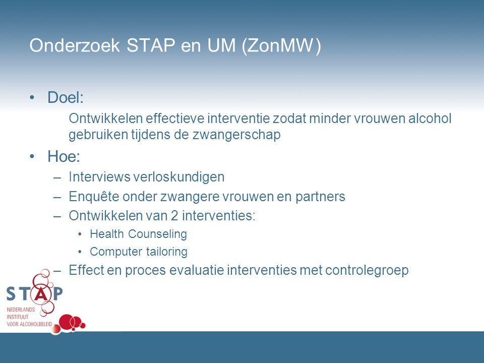 Onderzoek STAP en UM (ZonMW)