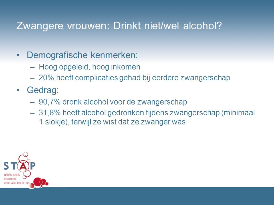 Zwangere vrouwen: Drinkt niet/wel alcohol