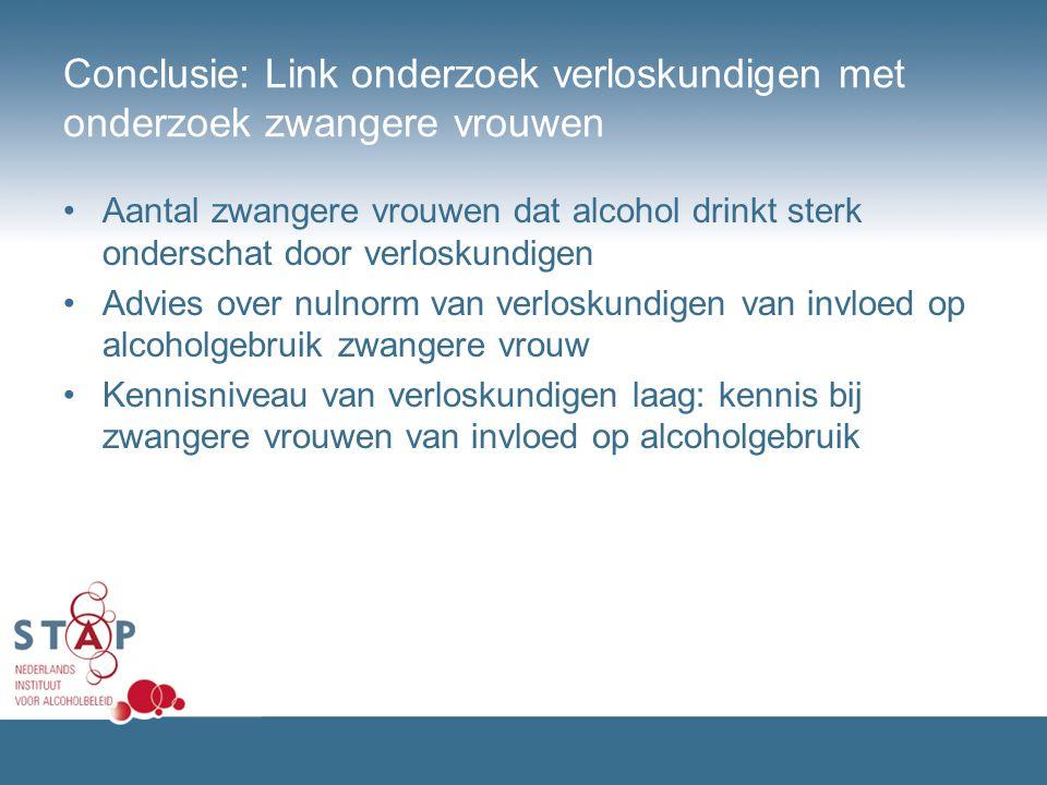Conclusie: Link onderzoek verloskundigen met onderzoek zwangere vrouwen