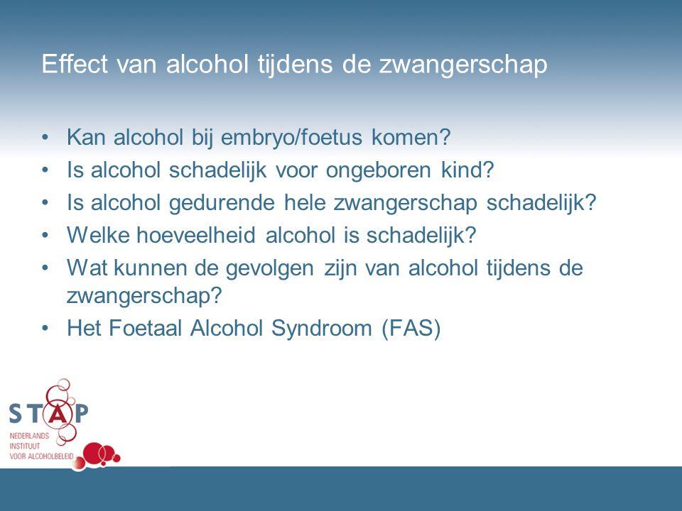 Effect van alcohol tijdens de zwangerschap