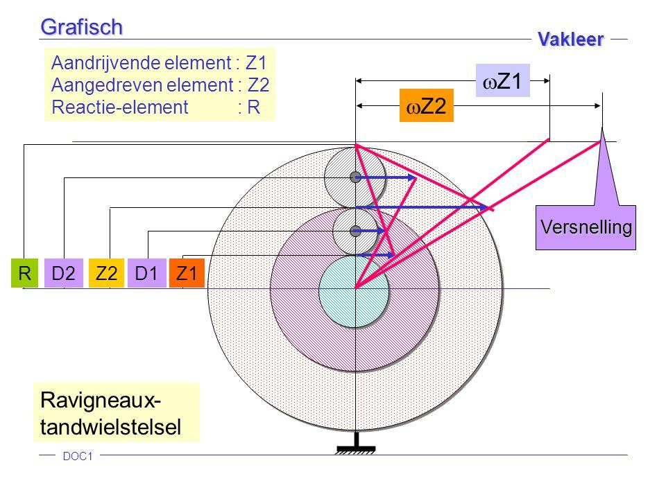 Ravigneaux- tandwielstelsel Z2