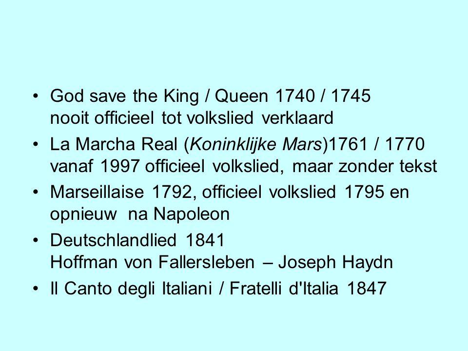 Marseillaise 1792, officieel volkslied 1795 en opnieuw na Napoleon