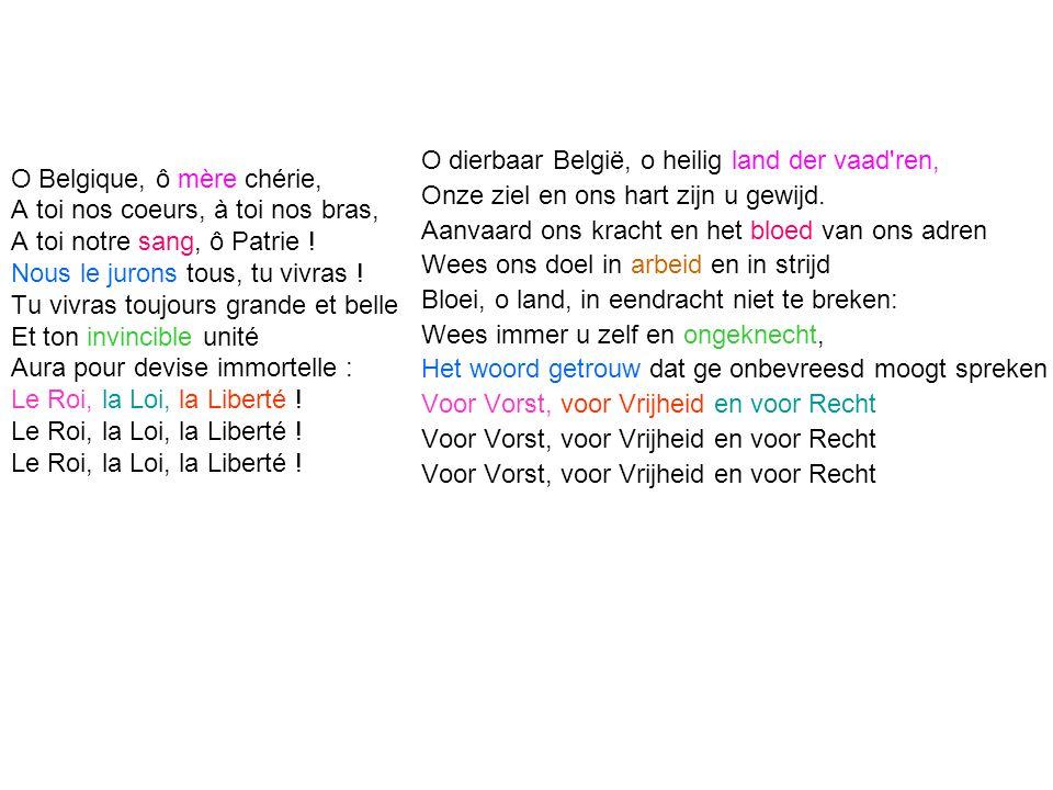 O dierbaar België, o heilig land der vaad ren,
