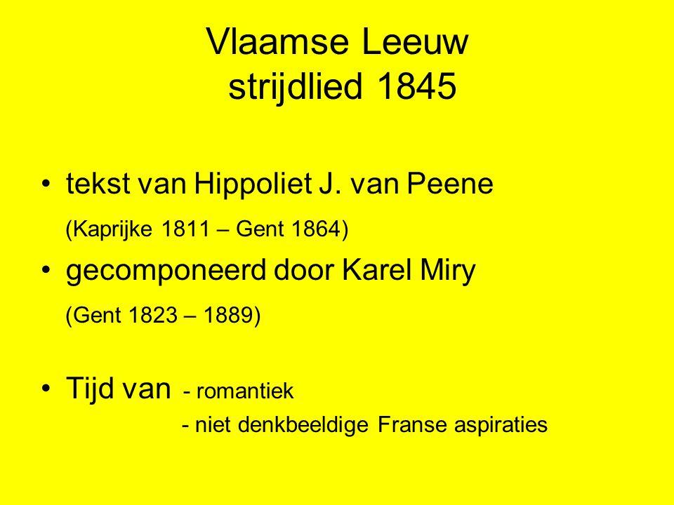 Vlaamse Leeuw strijdlied 1845