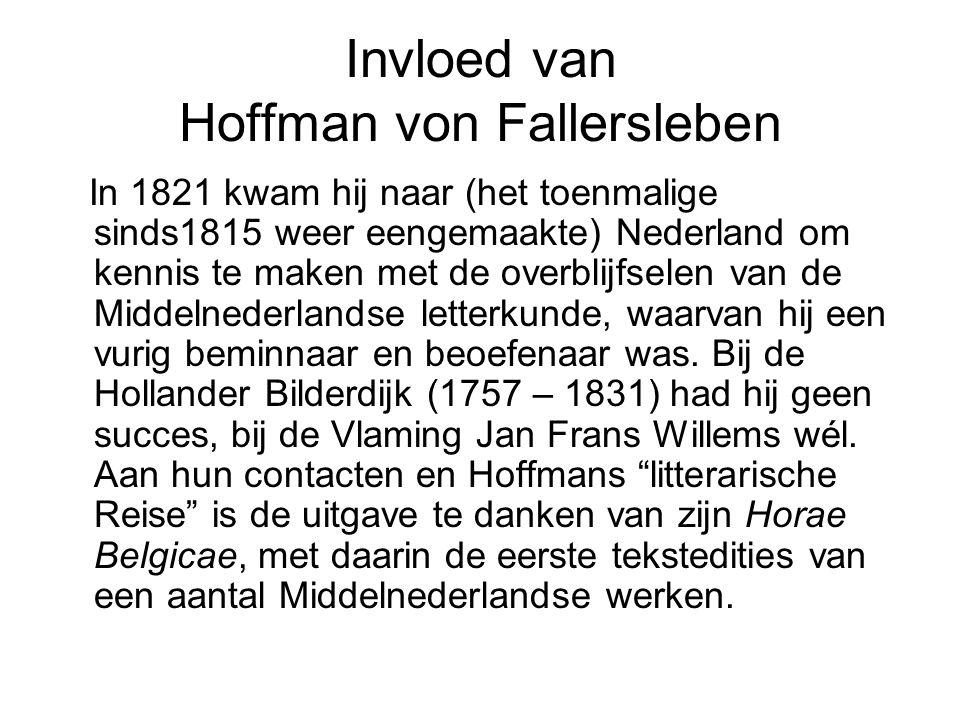 Invloed van Hoffman von Fallersleben