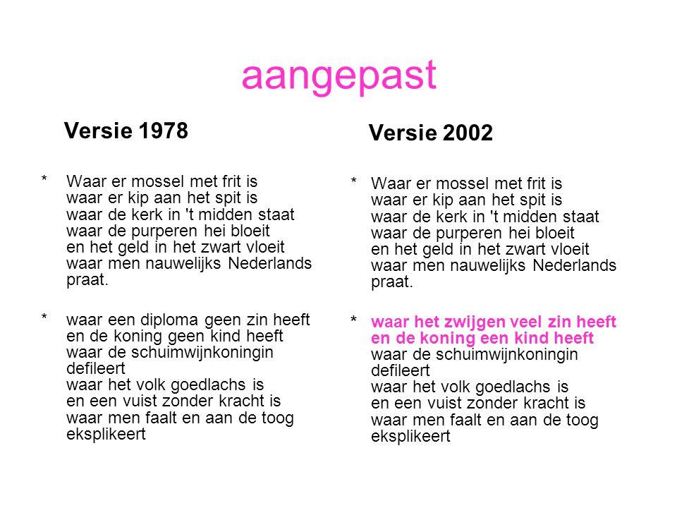 aangepast Versie 1978 Versie 2002