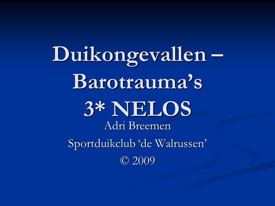 Duikongevallen – Barotrauma's 3* NELOS
