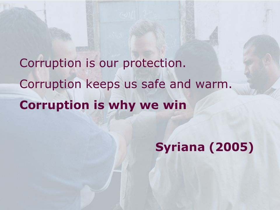 Corruption is our protection.