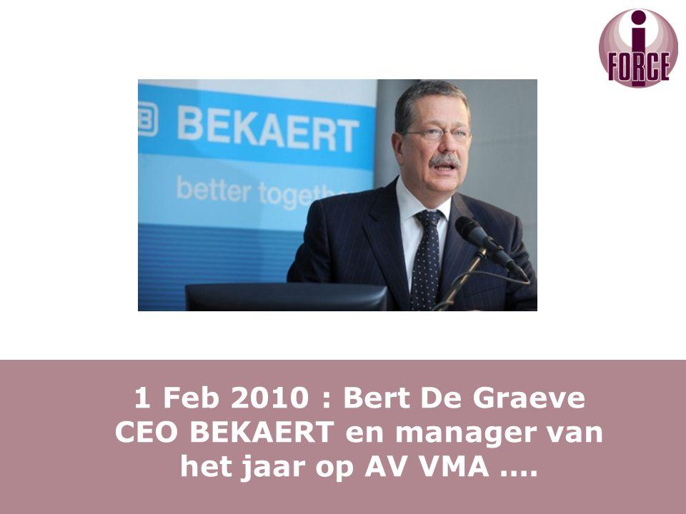 Iemand die dat goed begrepen heeft is een CEO van bij ons, met name Bert De Graeve....