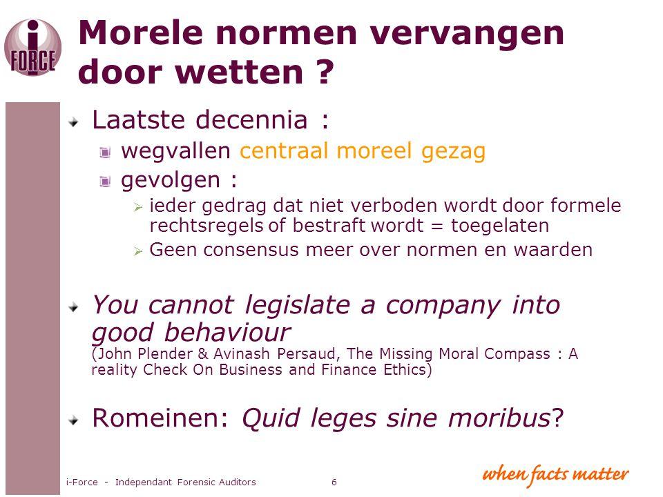 Morele normen vervangen door wetten
