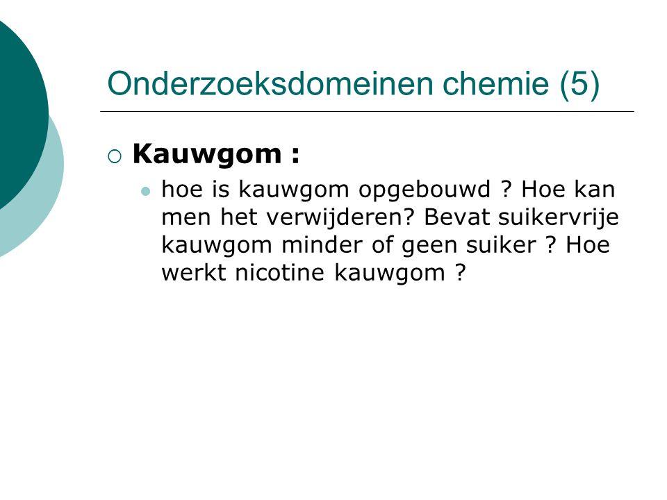 Onderzoeksdomeinen chemie (5)