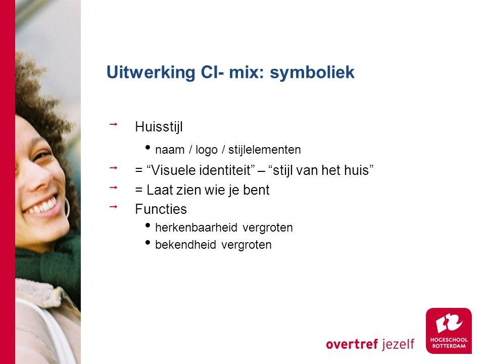 Uitwerking CI- mix: symboliek