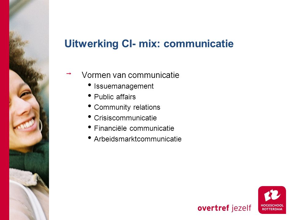 Uitwerking CI- mix: communicatie