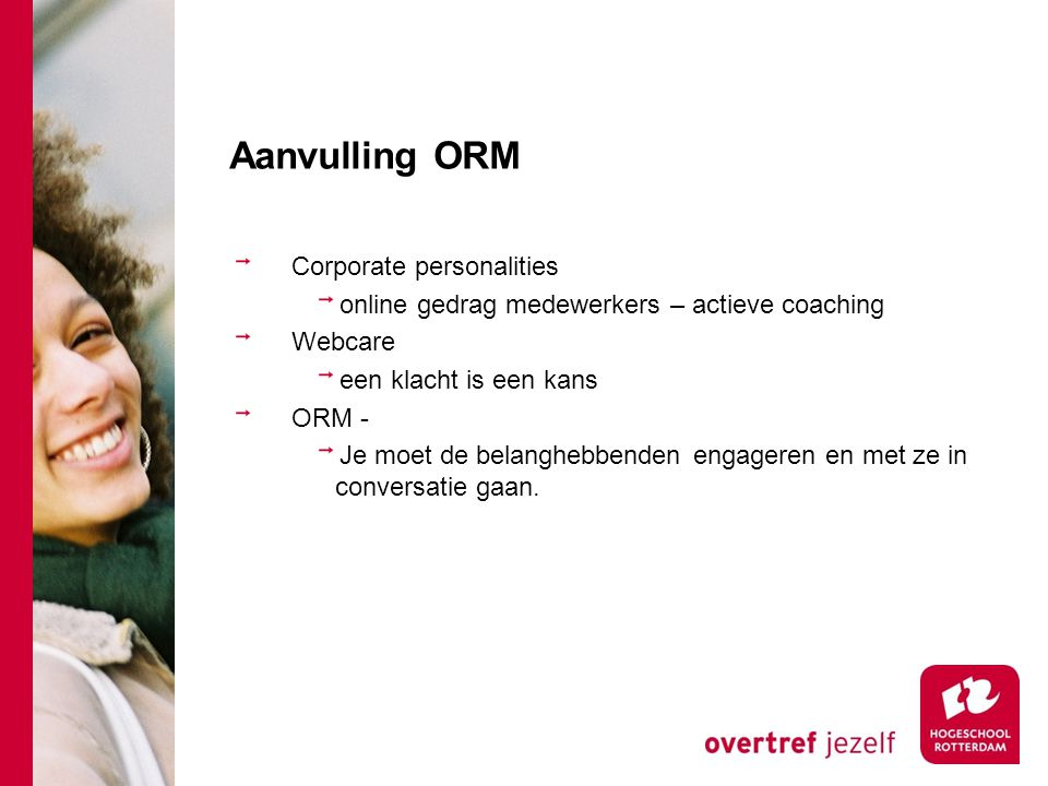 Aanvulling ORM Corporate personalities