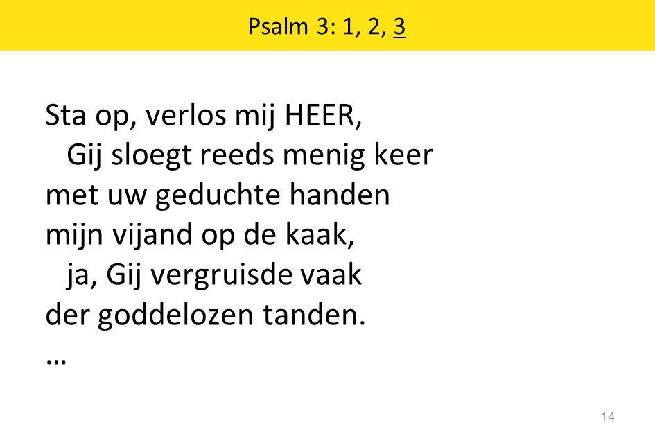 Psalm 3: 1, 2, 3