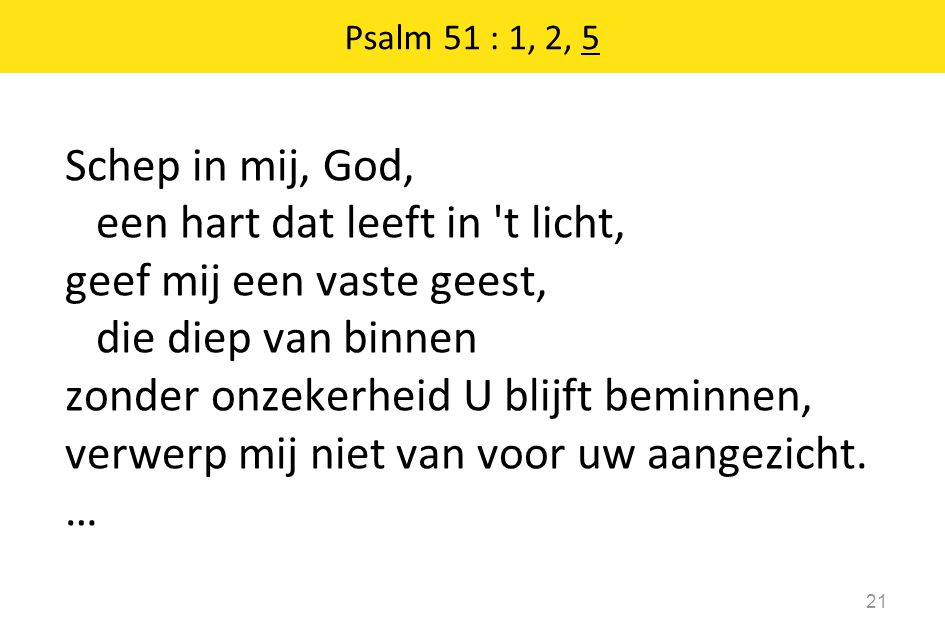 Psalm 51 : 1, 2, 5