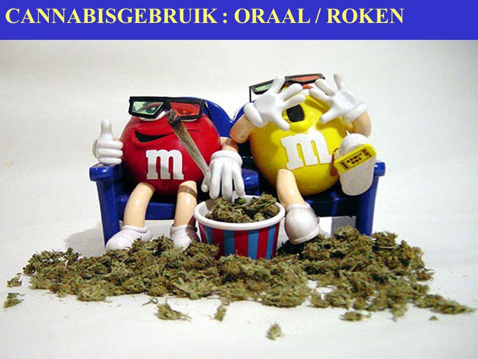 CANNABISGEBRUIK : ORAAL / ROKEN
