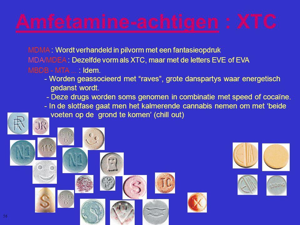 Amfetamine-achtigen : XTC