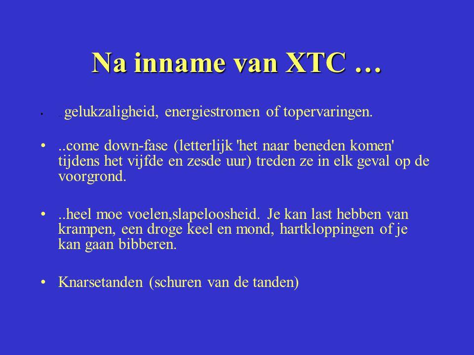 Na inname van XTC … .. gelukzaligheid, energiestromen of topervaringen.