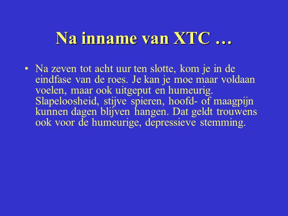 Na inname van XTC …