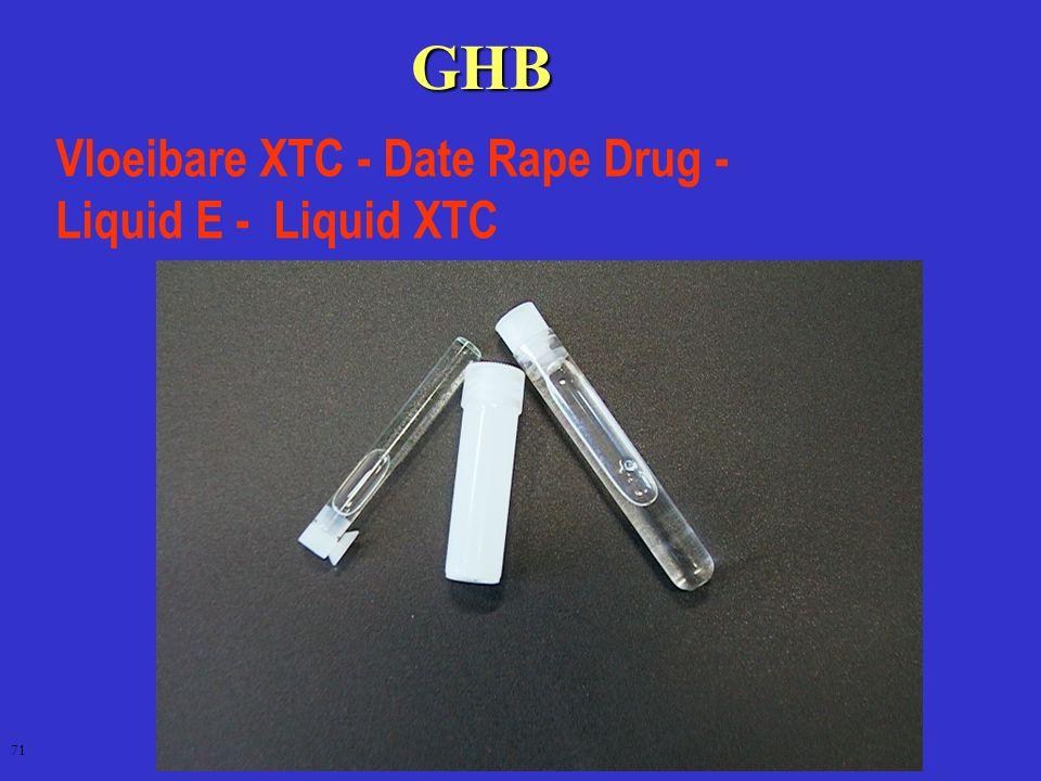 GHB Vloeibare XTC - Date Rape Drug - Liquid E - Liquid XTC 71
