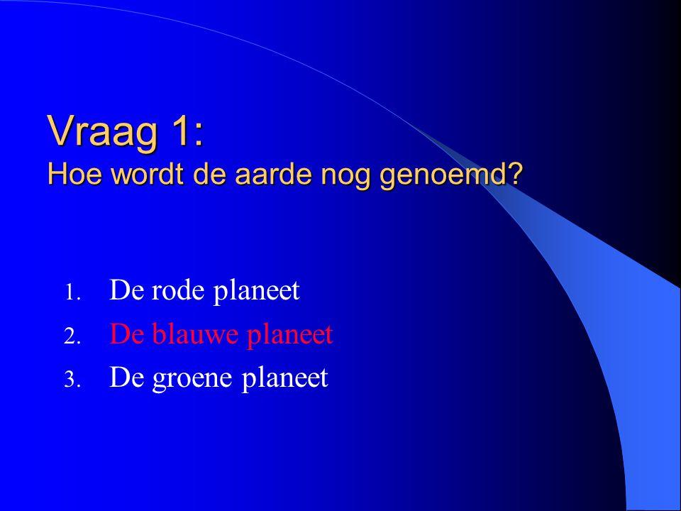 Vraag 1: Hoe wordt de aarde nog genoemd