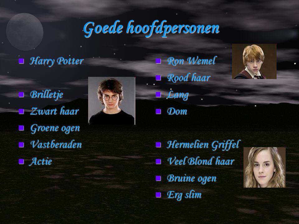 Goede hoofdpersonen Harry Potter Brilletje Zwart haar Groene ogen