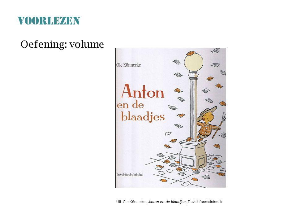 VOORLEZEN Oefening: volume
