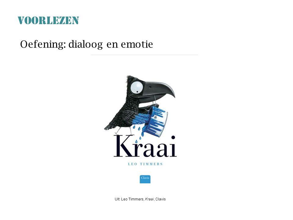 VOORLEZEN Oefening: dialoog en emotie Uit: Leo Timmers, Kraai, Clavis