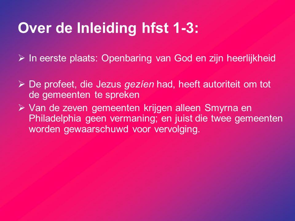 Over de Inleiding hfst 1-3: